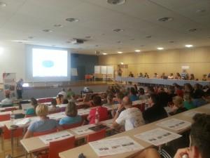 Das gut gefüllte Auditorium in Bundesleistungszentrum Kienbaum (Kienbau, den 15.09.2015)