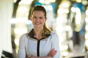 Britta Steffen Zweifache Olympiasiegerin im Schwimmen und Botschafterin des Projekts Foto: Atelier 18