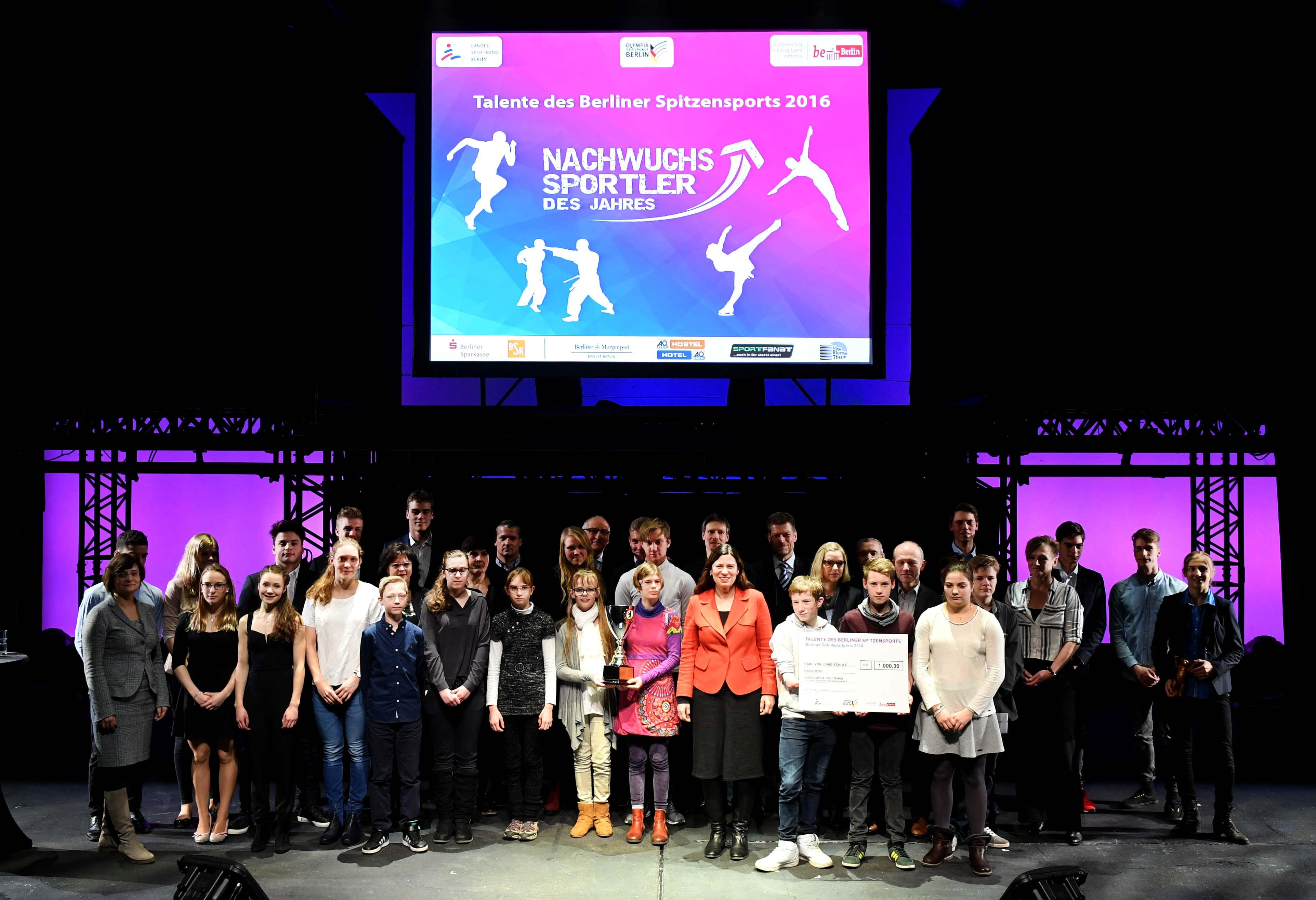 LSB Berlin, Berlin hat Talent, Auszeichnung der Talente des Berliner Spitzensports 2017 Foto: Camera4