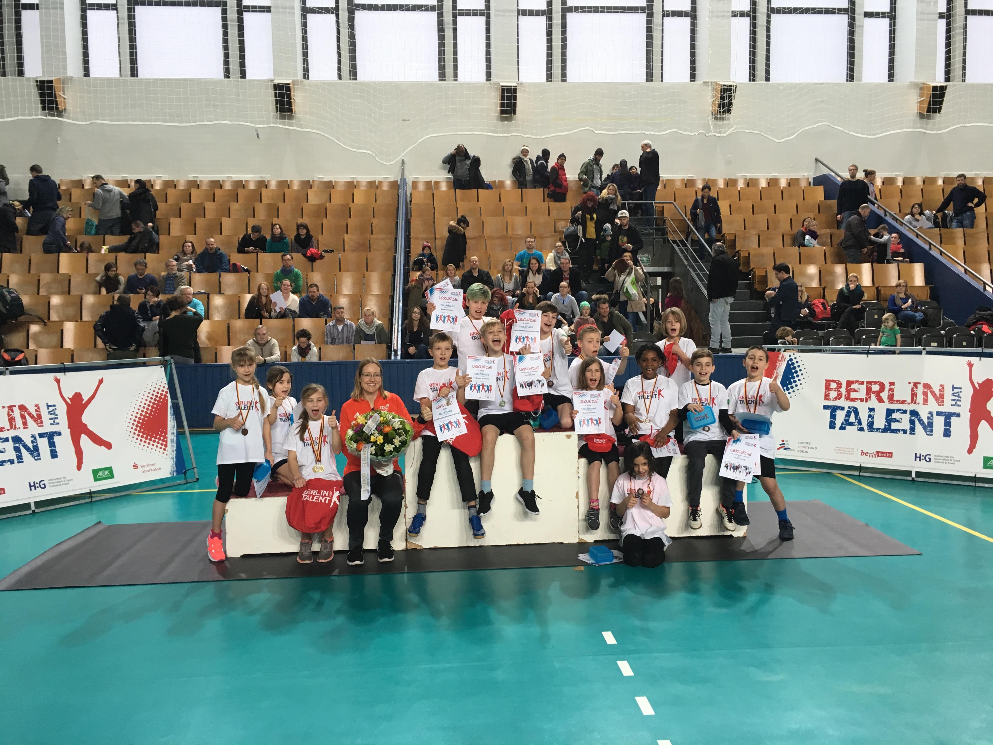 LSB, Berlin hat Talent, Fleurop, Lisa Unruh und die Medaillengewinner der Talentiade
