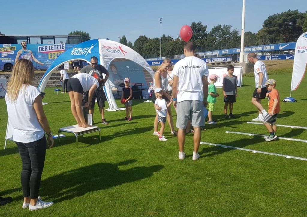 BERLIN HAT TALENT-Stand auf dem Familiensportfest 2018
