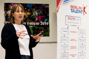 Rugby-Forum 2019 -Janine Gegusch informiert zum Thema BERLIN HAT TALENT