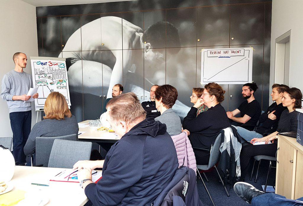 Projektteam BERLIN HAT TALENT mit den Vereinsvertretern