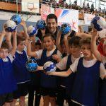An der Handballstation mit Stipe Mandalinic. Foto: Engler